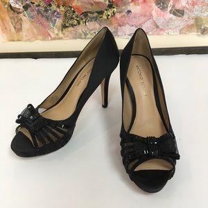 Antonio Melani black party heels